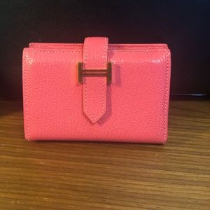 Preloved Hermes Bearn wallet compact Rose Extreme